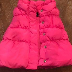 GAP Pink puffy vest